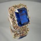 Barokní prsten zlatý