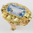 Barokní prsten s modrým kamenem