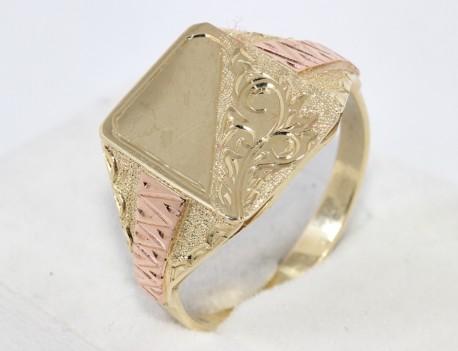 Pánský prsten celozlatý