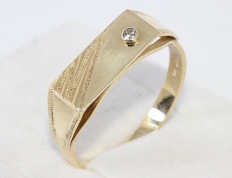 Pánský prsten jeden kámen