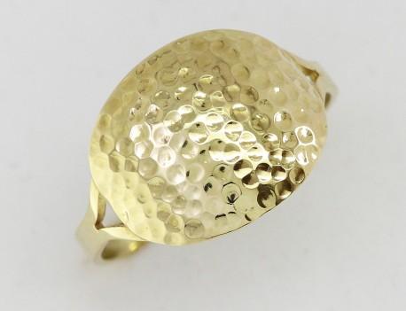 Zlatý prsten důlkovaný