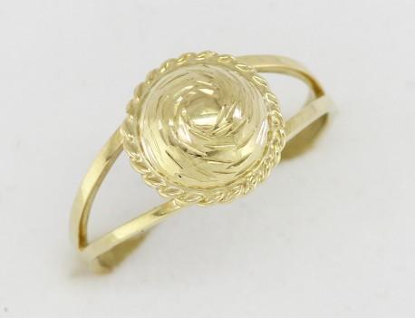 zlatý prsten oválek