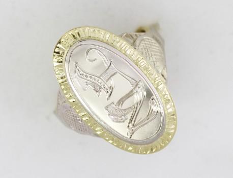 Dámský masivní prsten s monogramem