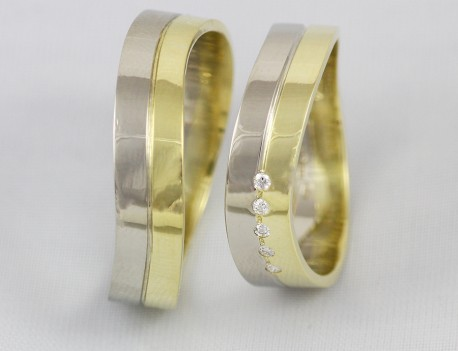 Snubní prsteny prohnuté