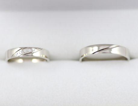 Snubní prsteny v bílém zlatě jemné