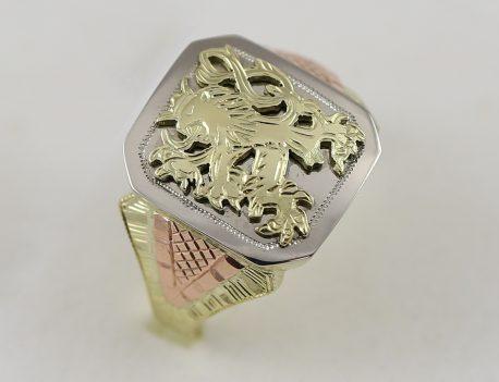 Pánský pečetní prsten se lvem