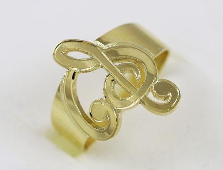 Prsten houslový klíč